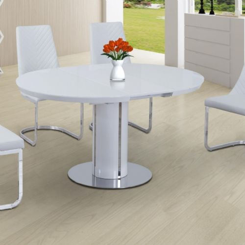 JP DT2135 Dining table 110-150cm(Round/Oval) (White)&JP CH6652  White Chairs From Jesse plana